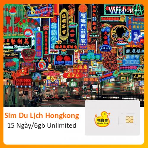 Sim Du Lịch Hong Kong 15 Ngày 6Gb Unlimited