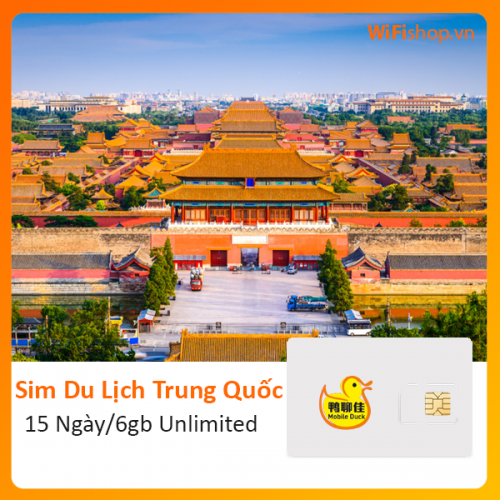 Sim Du Lịch Trung Quốc 15 Ngày 6Gb Unlimited