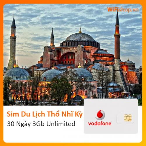Sim Du Lịch Thổ Nhĩ Kỳ 30 Ngày 3Gb Unlimited