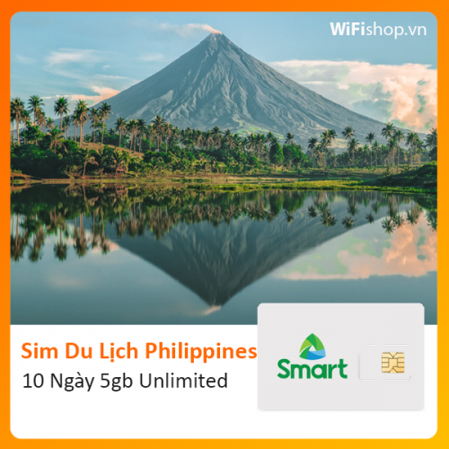 Sim Du Lịch Philippines 10 Ngày 5Gb Unlimited