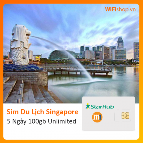 Sim Du Lịch Singapore 5 Ngày 100Gb Unlimited