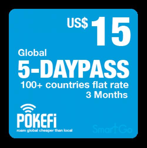 Nạp Tiền Pokefi Gói Cước 5GB Data Global 100+ Thời hạn 3 tháng