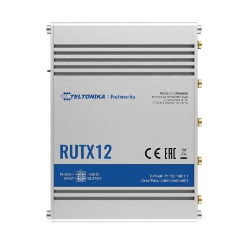 Bộ Phát Wifi 4G Công Nghiệp Teltonika RUTX12 Hỗ Trợ 2 Sim kết nối 150 user