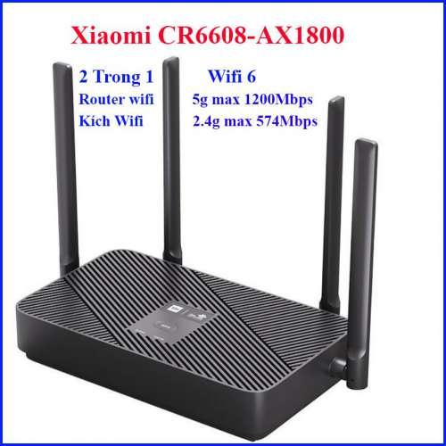 Bộ phát Wifi Xiaomi CR6608 chuẩn Wifi 6 AX1800 4 anten và Lan Gigabit