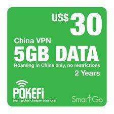 Nạp Tiền Pokefi Gói Cước 5GB Data Trung Quốc Thời hạn 2 năm