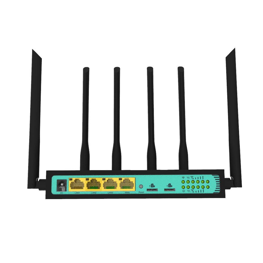 Bộ phát Wifi 4G 2 Sim Công Nghiệp Hitek WE2806 Có 4 Cổng LAN Tốc Độ Wifi 300Mb